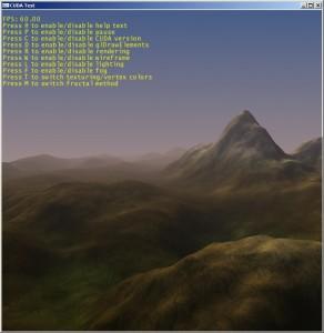 A fractal landscape in CUDA